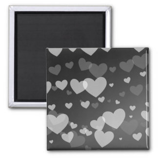 Hearts Square Magnet
