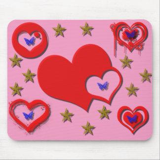 Hearts, Stars, Butterfly Mousepad