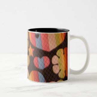 Hearts,Stars,Flowers Retro Mug
