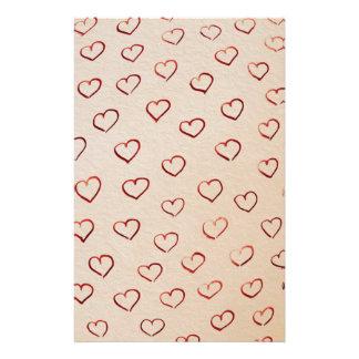 Hearts Stationery Design