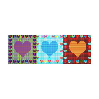 Hearts Sweet+Heart Love Romance Display Symbol FUN Gallery Wrap Canvas