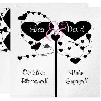 Hearts & Swirls Engagement Invitation