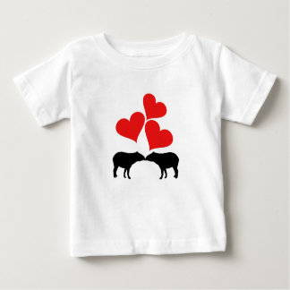 Hearts & Tapirs Baby T-Shirt