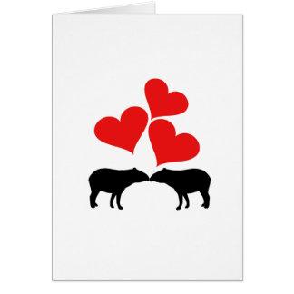 Hearts & Tapirs Card