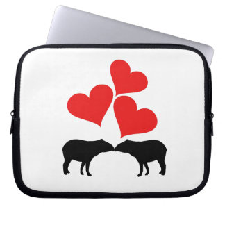 Hearts & Tapirs Laptop Sleeve