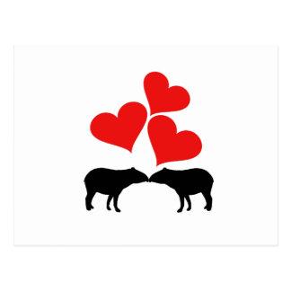 Hearts & Tapirs Postcard