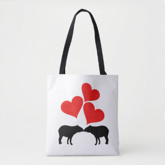 Hearts & Tapirs Tote Bag