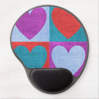 Hearts Themed Mouse Pad Gel Mouse Pad
