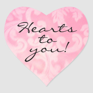 Hearts to You Heart Shaped Sticker