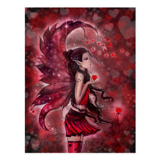 Hearts Valentine Fairy Postcard by Molly Harrison