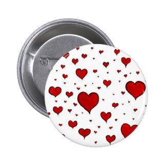 Hearts Valentines Day 6 Cm Round Badge