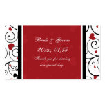 Hearts Valentine's Day Wedding Favour Tags