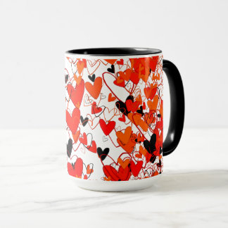 Hearts Vibrant Colorful Dramatic Love Fantastic Mug