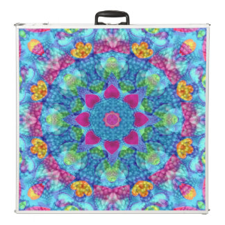 "Hearts Vintage Kaleidoscope  96"" Pong Table"