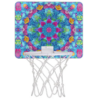 Hearts Vintage Kaleidoscope Basketball Hoops