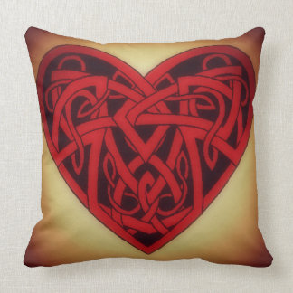 Heart's Weave Throw Pillow