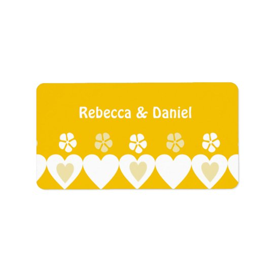 Hearts Wedding Favour Labels