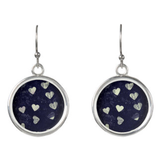 Hearts with blue earrings