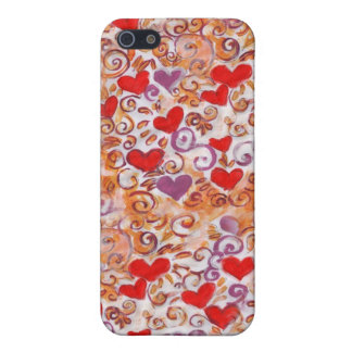Hearts with Gold Vines iPhone 5/5S Case