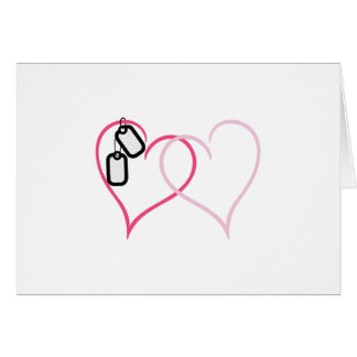 Hearts With Tags Greeting Card