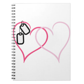 Hearts With Tags Notebooks