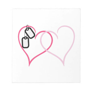 Hearts With Tags Scratch Pads