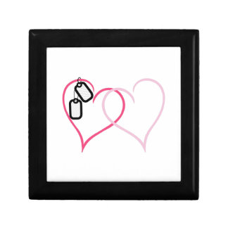 Hearts With Tags Small Square Gift Box