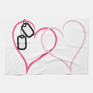 Hearts With Tags Towel