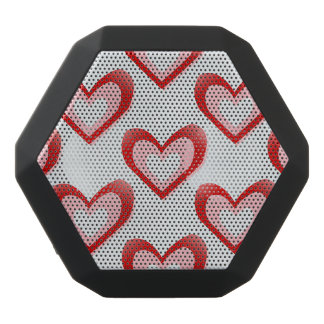 Hearts Within a Heart Pattern Black Boombot Rex Bluetooth Speaker