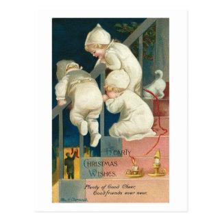 Hearty Christmas Wishes Kid s Peeking Card Post Card