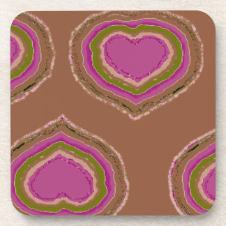 Hearty design for valentines coasters