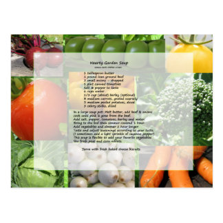 Hearty Garden Soup Recipe Postcard