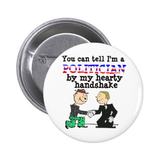Hearty Handshake Pinback Button