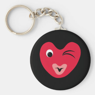 hearty basic round button key ring