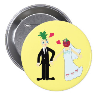 Hearty Marriage (Pine & Berry) 7.5 Cm Round Badge
