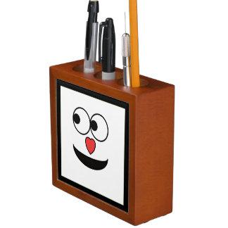 Hearty Nose Happy Face Desk Organiser