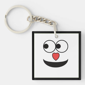 Hearty Nose Happy Face Key Ring
