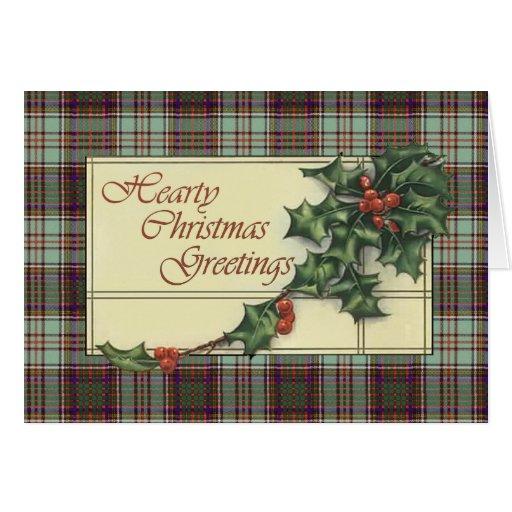 Hearty Season's Greetings, Anderson tartan Greeting Card