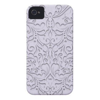 HeartyChic Lavender linen Damask heart iPhone 4 Cases