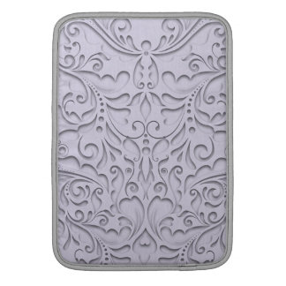 HeartyChic Lavender linen Damask heart MacBook Air Sleeves
