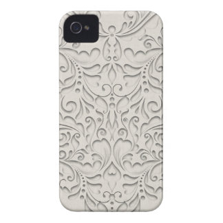 HeartyChic Natural Linen Damask Heart iPhone 4 Case-Mate Cases