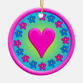 Heartyfact Round Ceramic Decoration