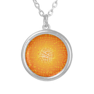 Heat Background Silver Plated Necklace