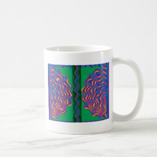 Heat Fire Flame Wave Warmth Template Gifts blue Coffee Mugs