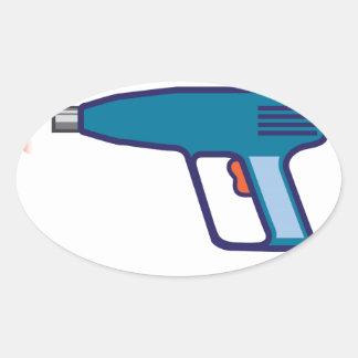 Heat Gun Oval Sticker