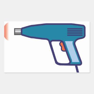 Heat Gun Rectangular Sticker