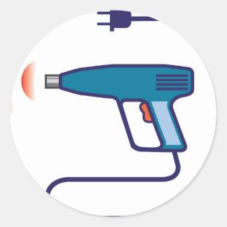Heat Gun Round Sticker