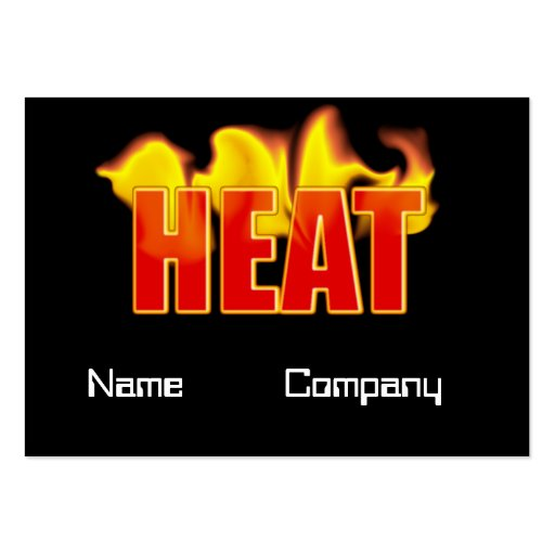 Heat Logo With Burning Flames Bookmark Card Business Card Template