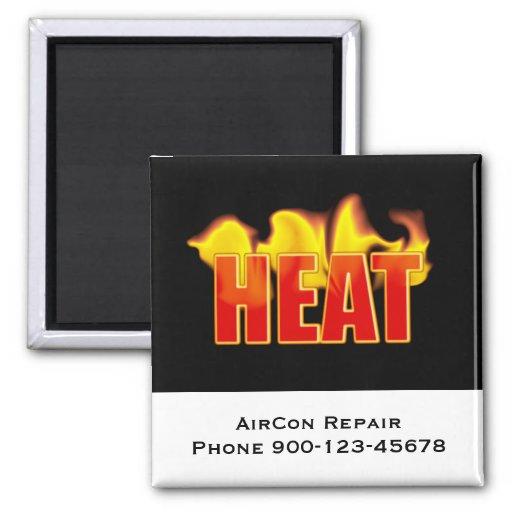 Heat Logo With Burning Flames Fridge Magnets
