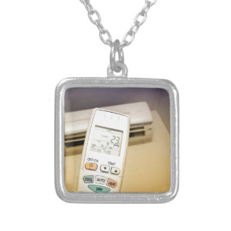 Heat or cool silver plated necklace